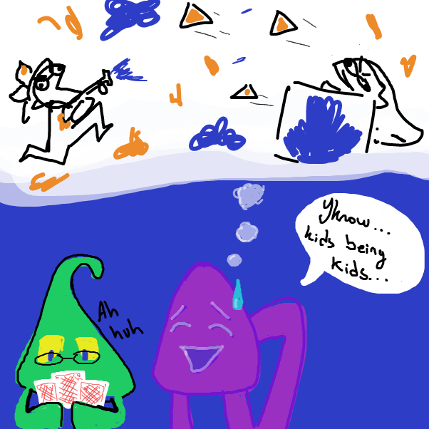 Drawing in squiggly squid squad by boringgoodietwoshoes