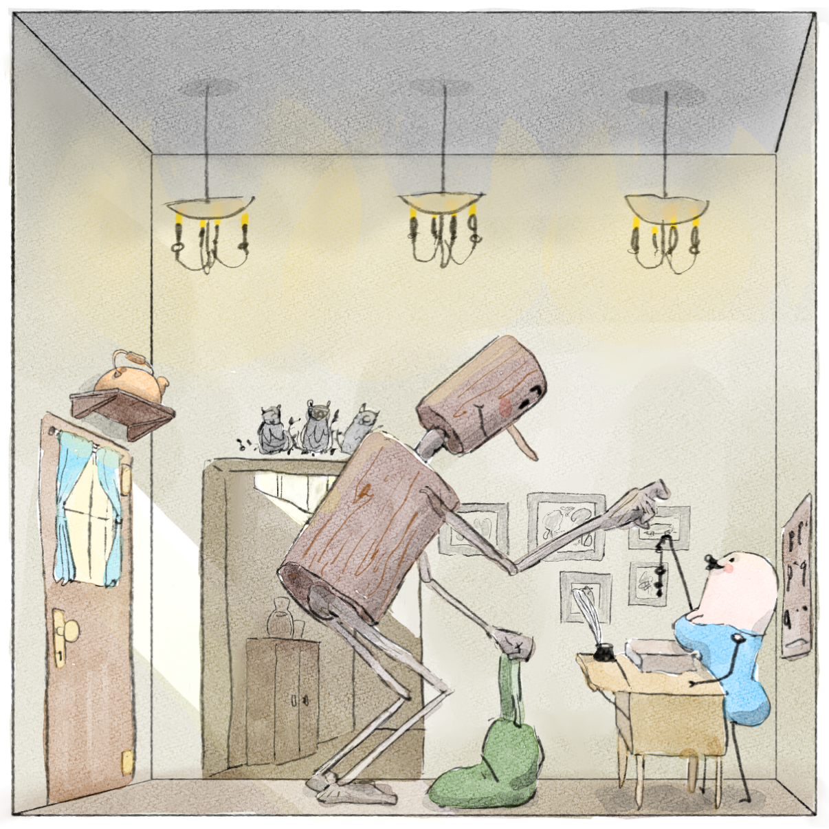 Drawing in The Copper Inn by Potato Man