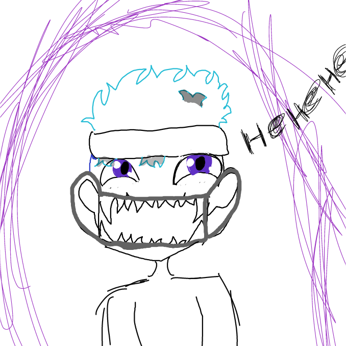 First panel in happy Halloween  drawn in our free online drawing game