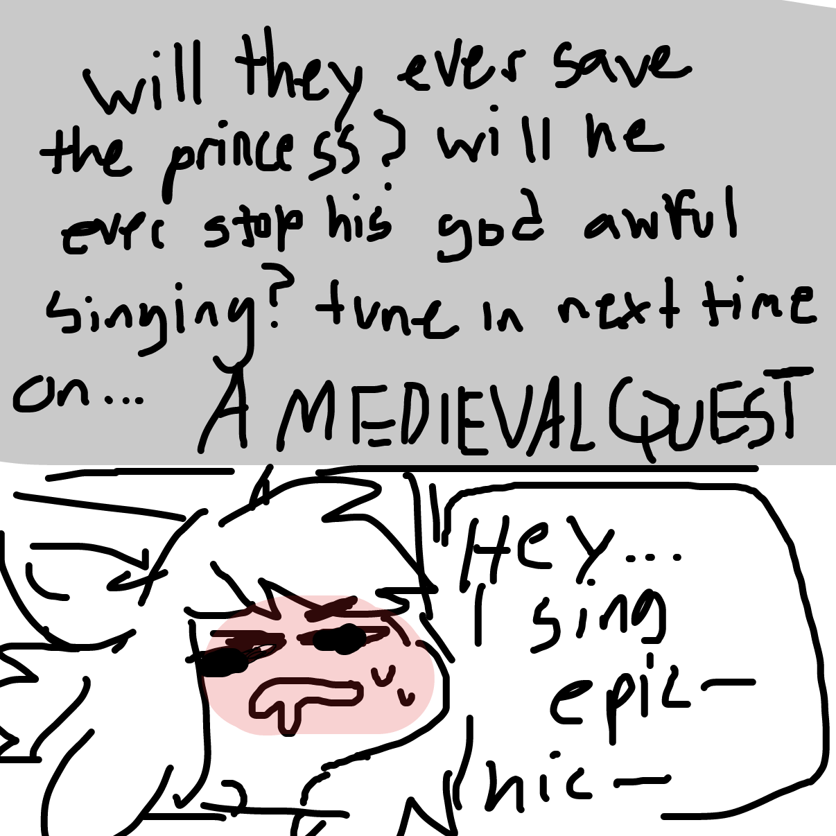Drawing in A Medieval Quest by Dragonblitzx
