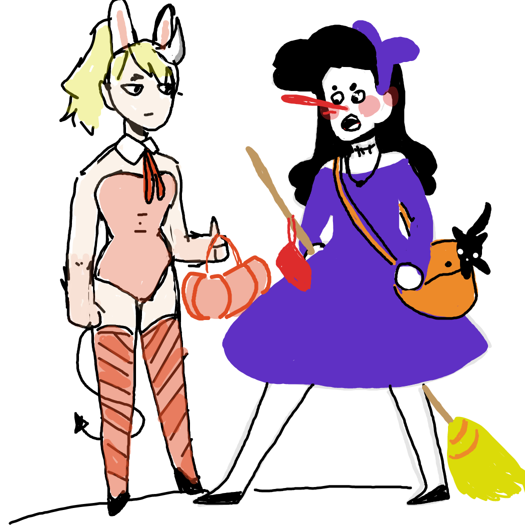 Drawing in O.c after Halloween Party!  by Rednightlights
