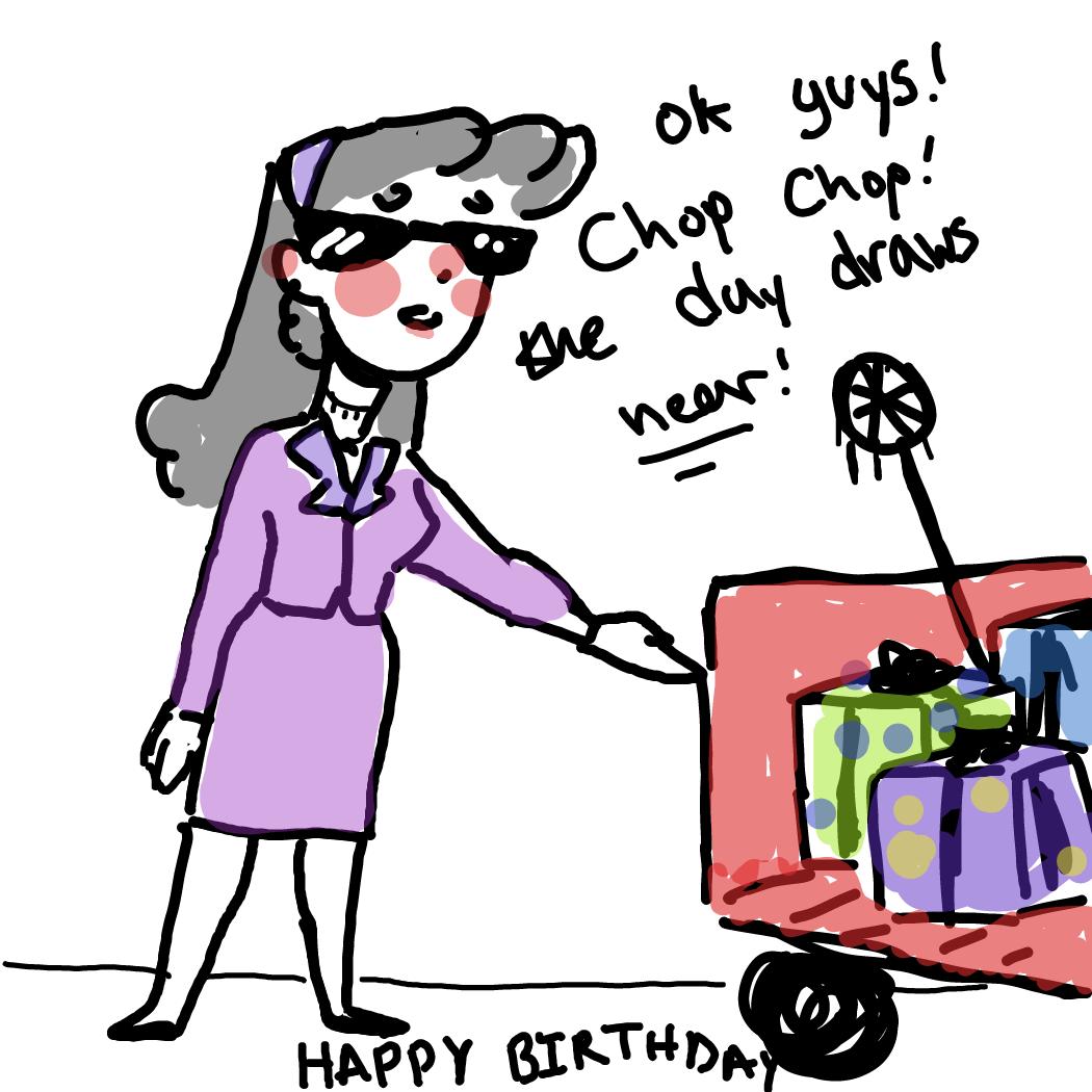 Drawing in birthday  by Rednightlights