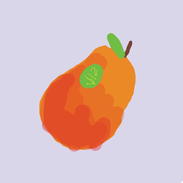 Drawing in Twelve dollar mango by Kaeley