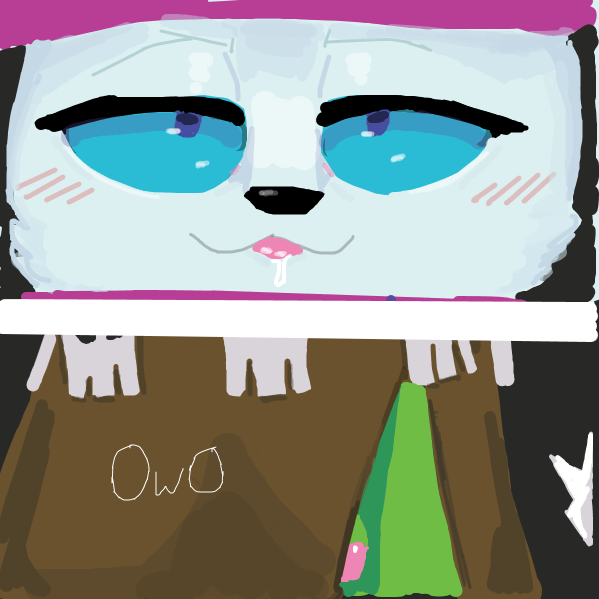 Drawing in Cat Wizard by Fuck