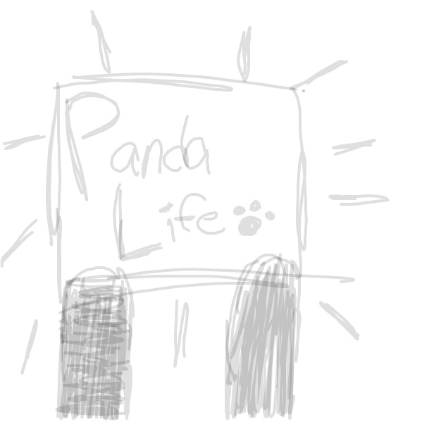 First panel in Panda Life drawn in our free online drawing game