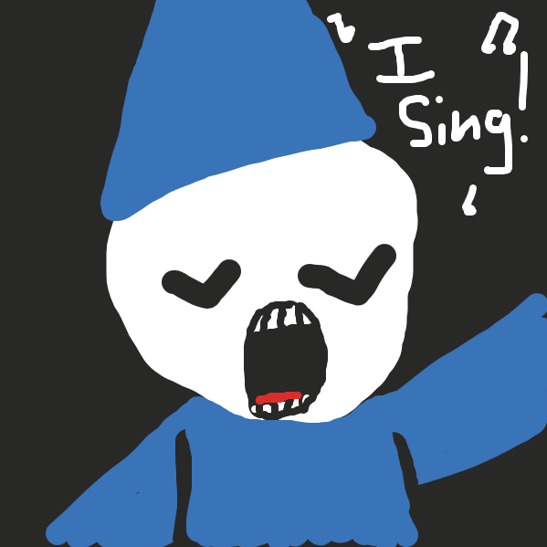 hes a great singer - Online Drawing Game Comic Strip Panel by AM the shithead