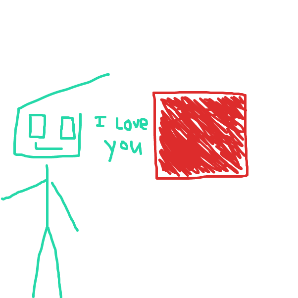 First panel in Joe likes squares drawn in our free online drawing game