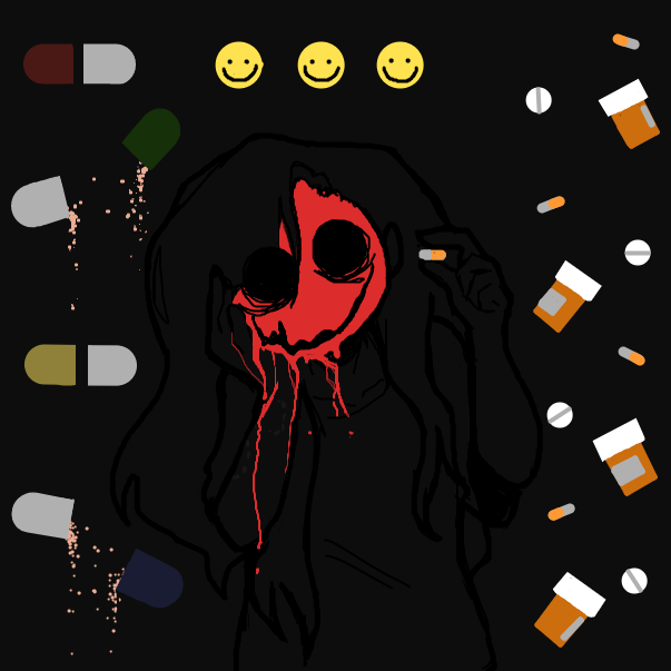 Drawing in Happy Pills by RandomDoodler