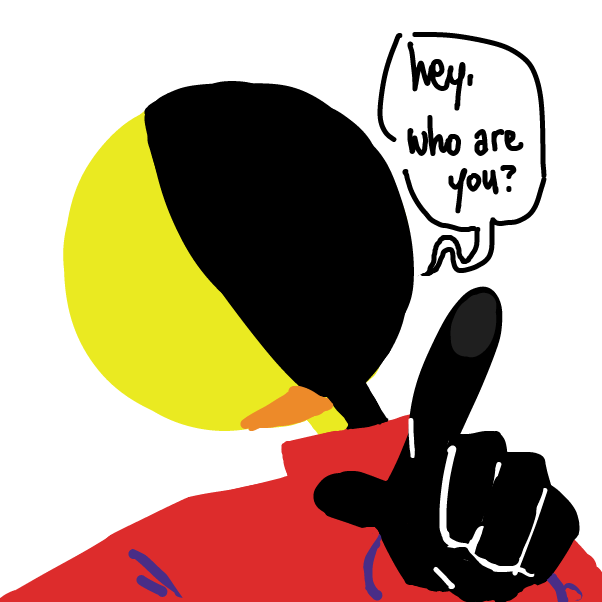 First panel in Hey drawn in our free online drawing game