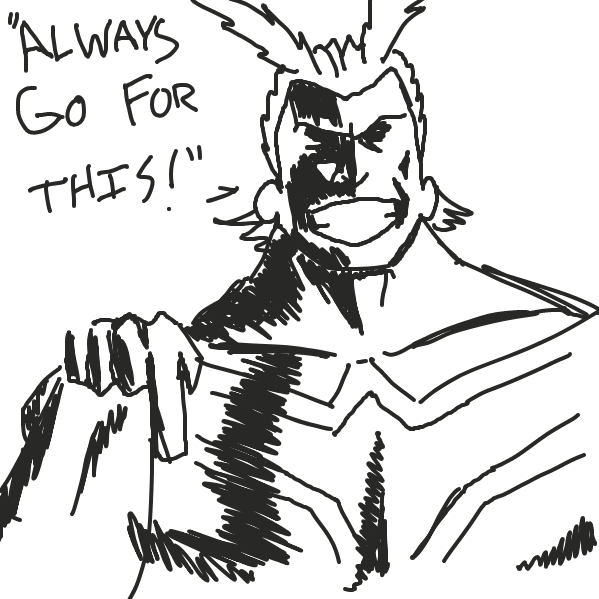 What sage advice could All Might be offering? - Online Drawing Game Comic Strip Panel by superstar_pixie