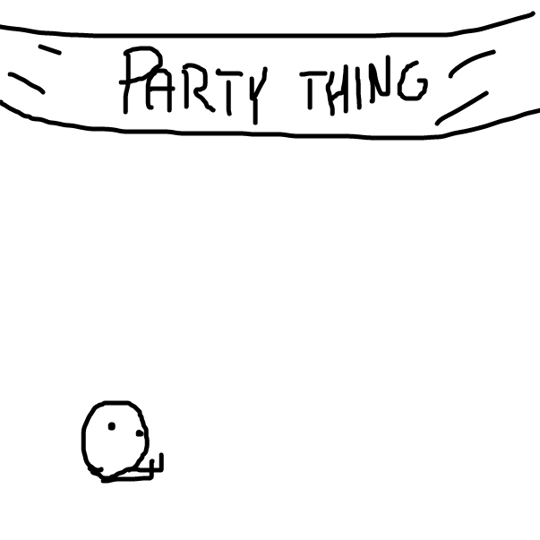 First panel in Add something!!! drawn in our free online drawing game