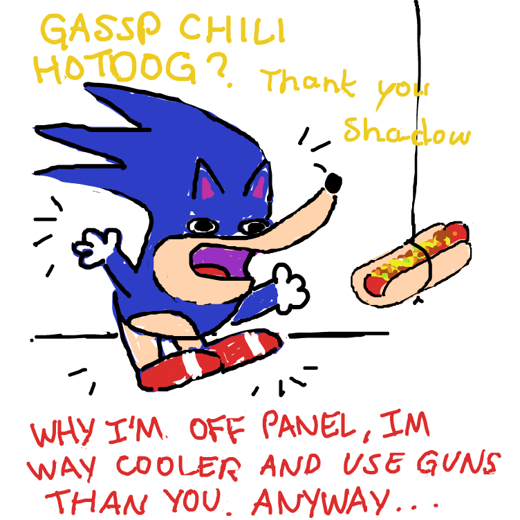 Drawing in fast guy sonic by nooz