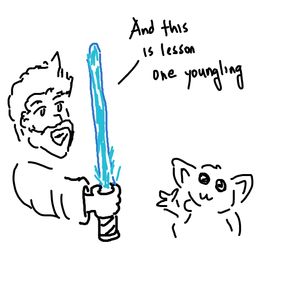 First panel in New SW drawn in our free online drawing game