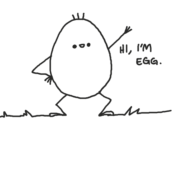 First panel in Egg drawn in our free online drawing game