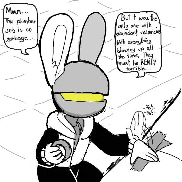 First panel in Space Bun-bun: Reassignment drawn in our free online drawing game