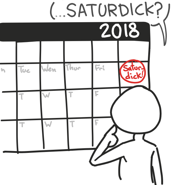 i declare today. . . Satur-Dick! - Online Drawing Game Comic Strip Panel by Cake Emoji