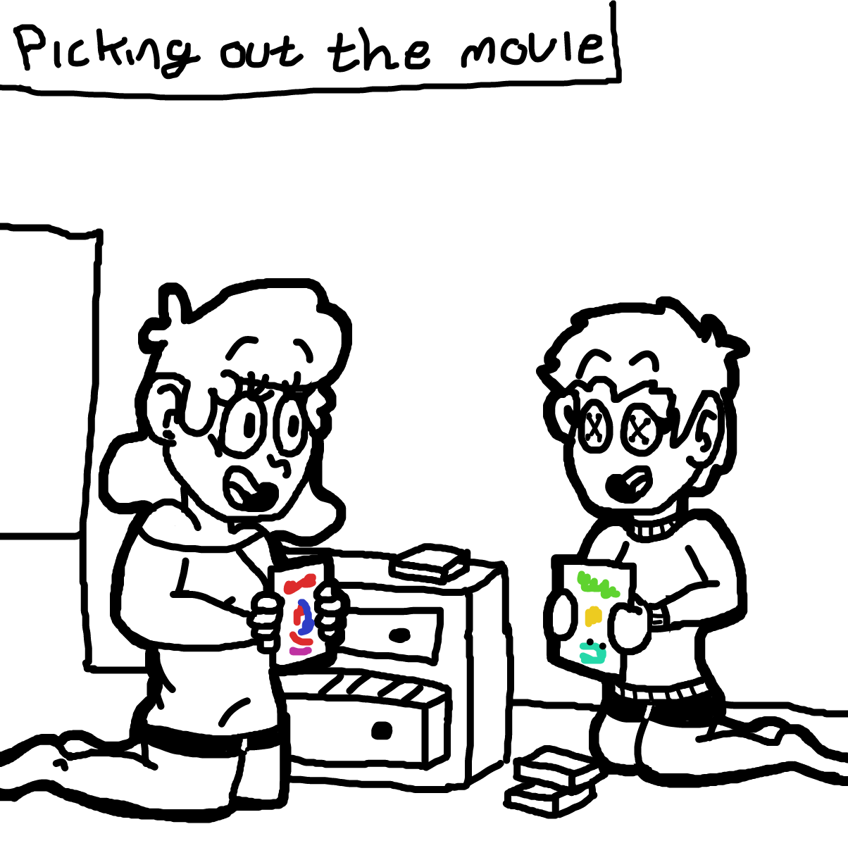 Drawing in Watching Movies with BAE by CherryFlavored