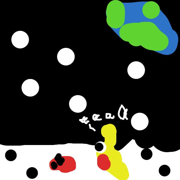 Drawing in DIAVOLO & Larva DIES AGAIN by Gleb08