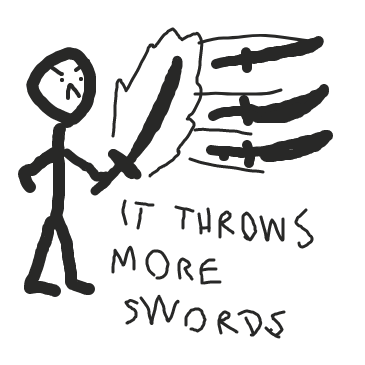 Sword of sword power - Online Drawing Game Comic Strip Panel by Arthness