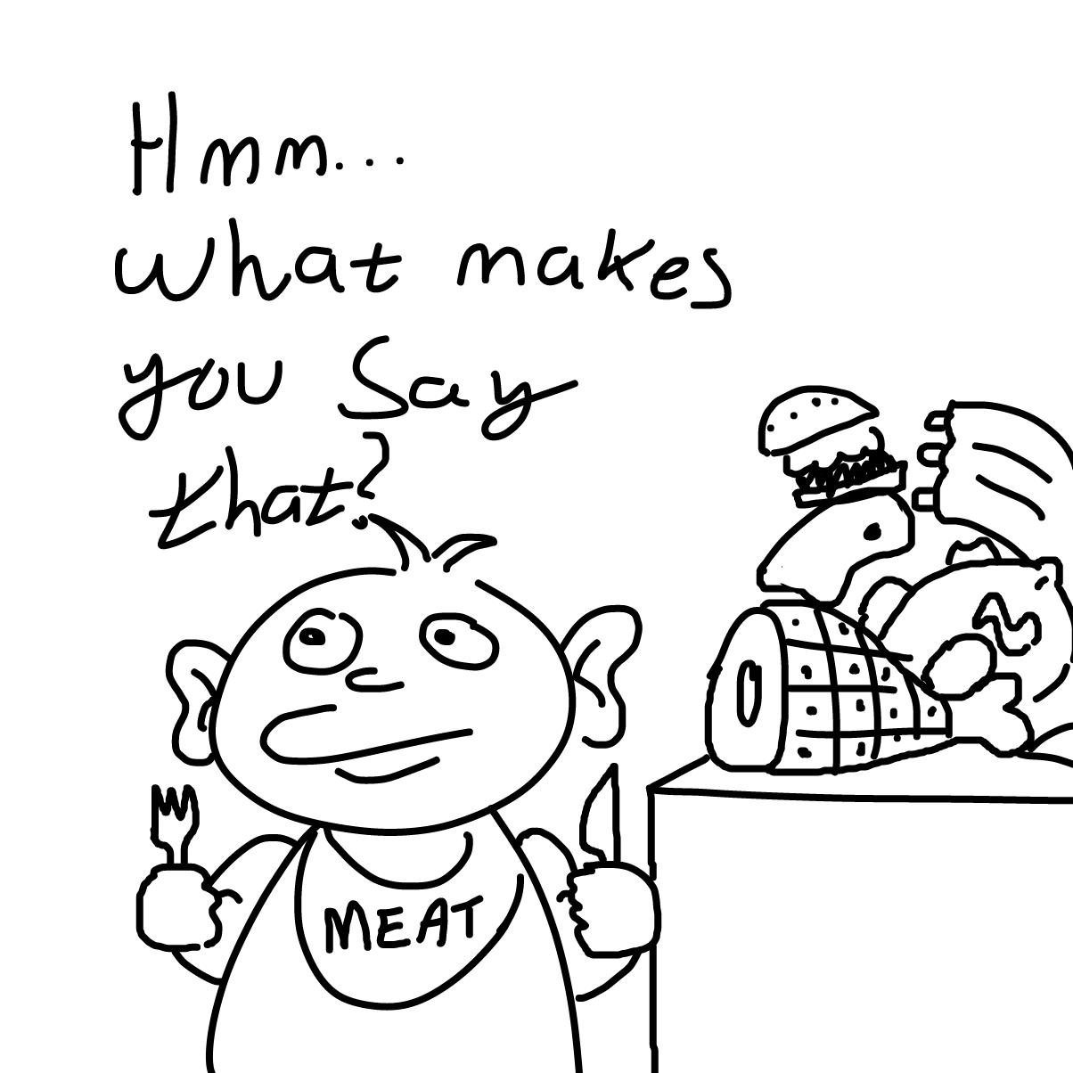Drawing in Vegan Teacher by CherryFlavored