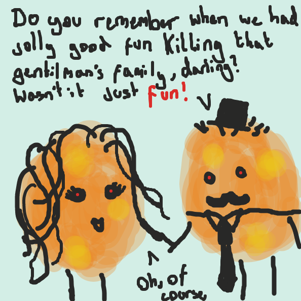 His family was killed by THESE cookies - Online Drawing Game Comic Strip Panel by Chicken