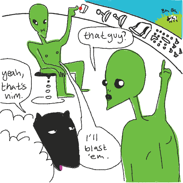 Uh oh - Online Drawing Game Comic Strip Panel by Masterboog