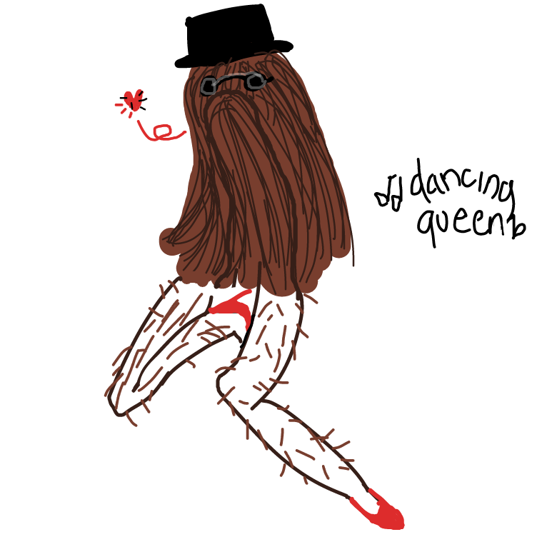 """Drawing in Draw a """"it"""" girl by pantsless dog"""