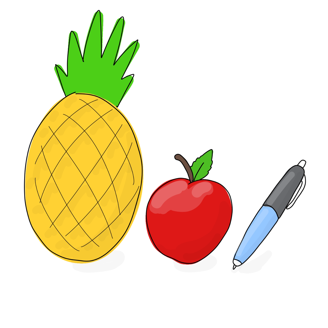 Drawing in apple by Wizard Croissant