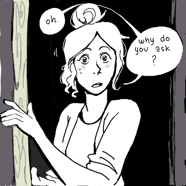 Isn't it obvious? Oops - Online Drawing Game Comic Strip Panel by Akuyi
