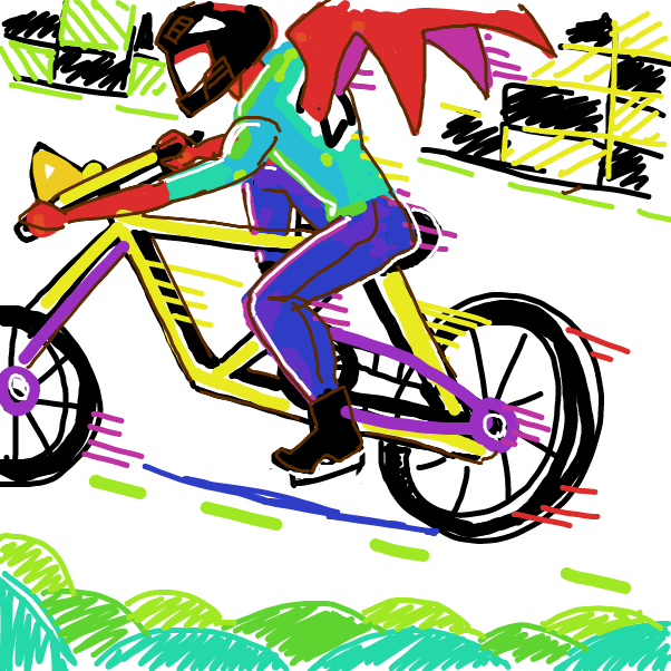 First panel in Draw a bike from memory drawn in our free online drawing game