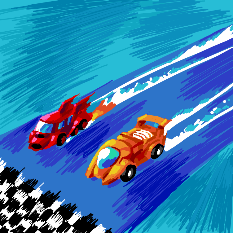 First panel in 🏁 drawn in our free online drawing game