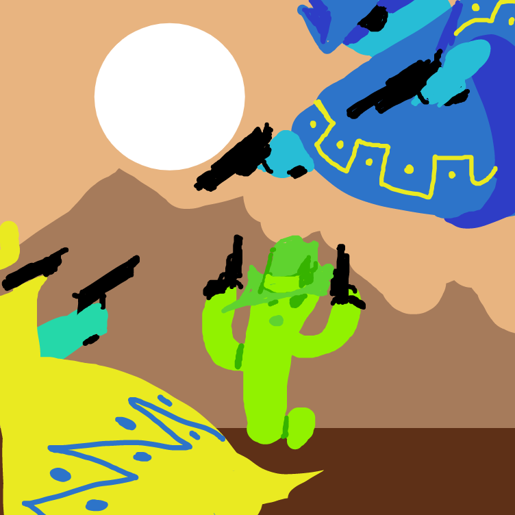 Drawing in Phone Doodles: The Showdown by The_Silent_Artist