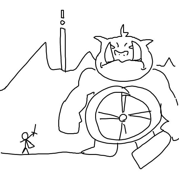 Drawing in Fast Jam:: Boss Battle by Dragatile