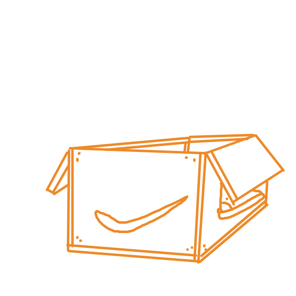 Drawing in Cardboard Box by Dragatile