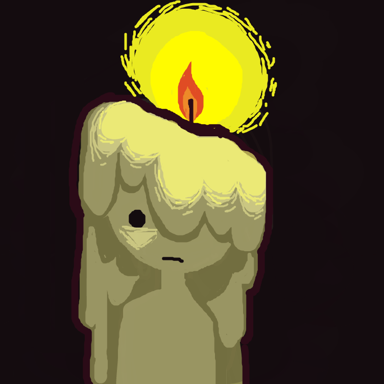 First panel in Sad Candle drawn in our free online drawing game
