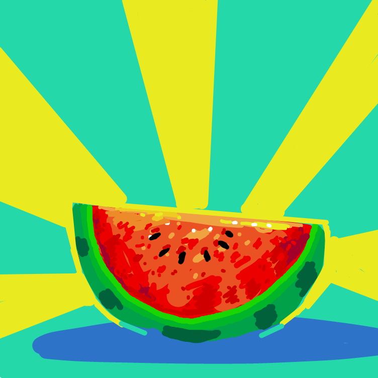 First panel in 🍉 drawn in our free online drawing game