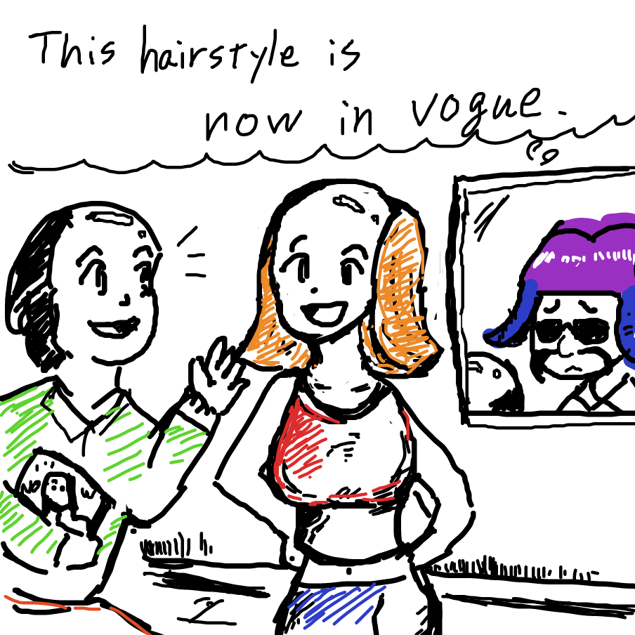 Drawing in Hairdresser chic by esehara