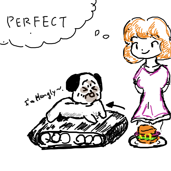 Drawing in Pug comic test 1 by esehara