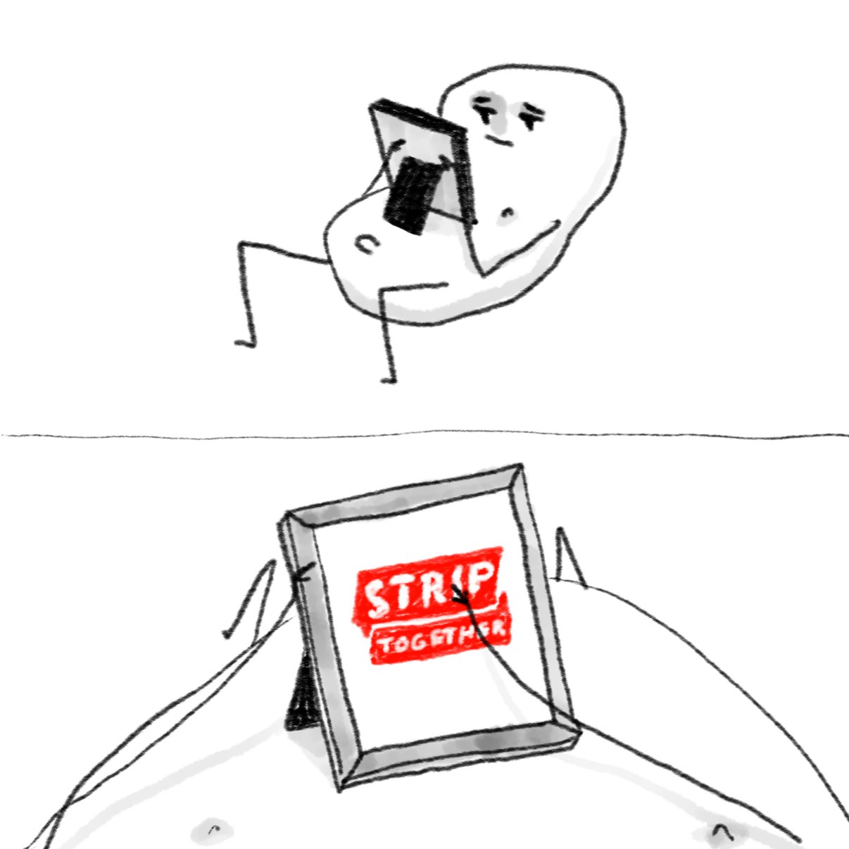 Drawing in tfw you remember the sites old name  by Potato Man