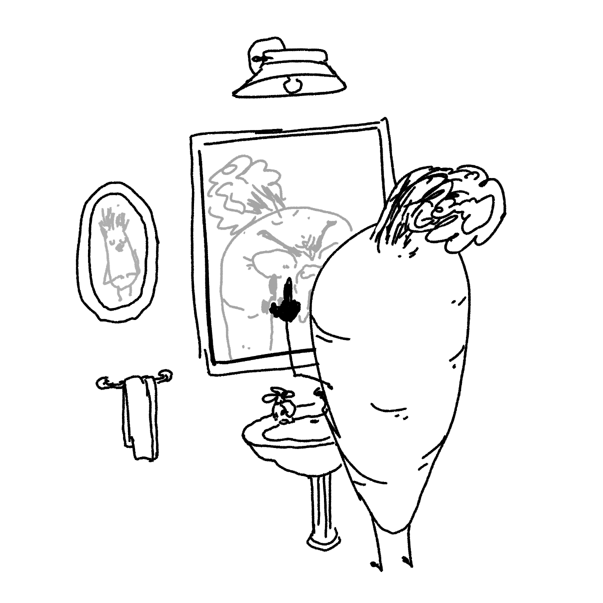 Drawing in Don't Carrot All by Potato Man