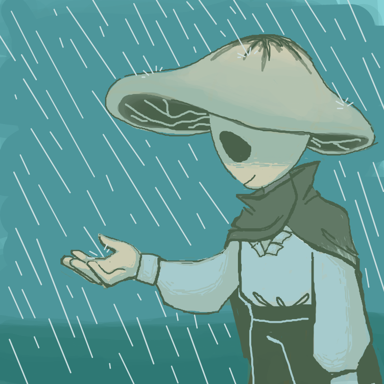 First panel in a mushroom i guess drawn in our free online drawing game