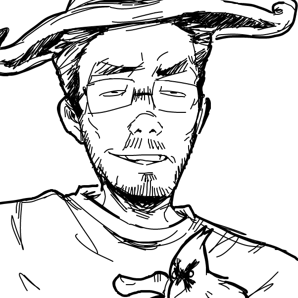 Drawing in o by Peler