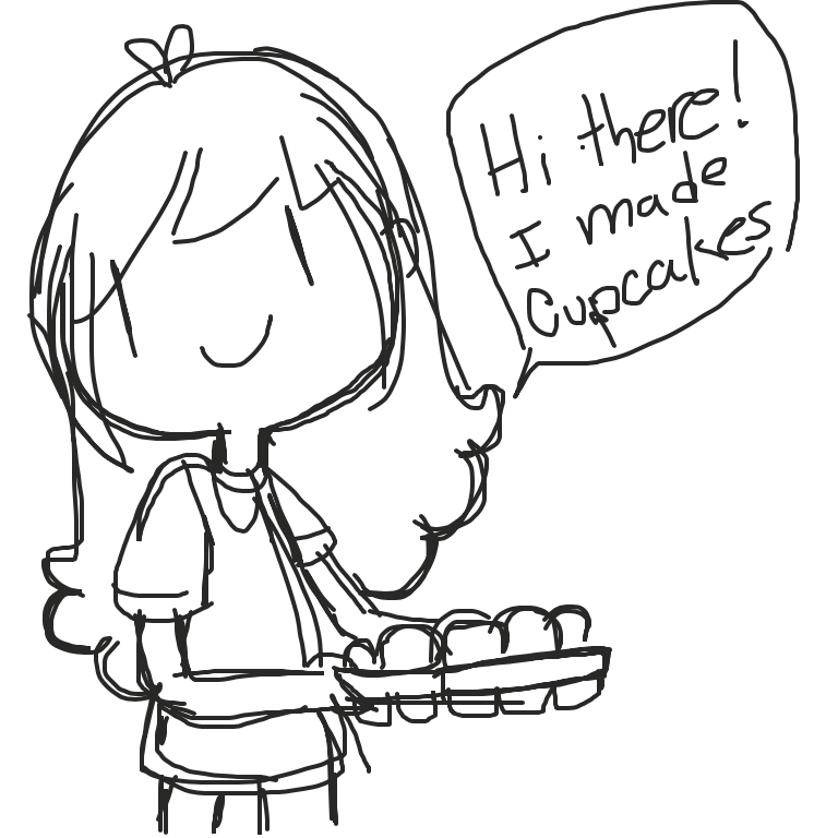Liked webcomic I made cupcakes!