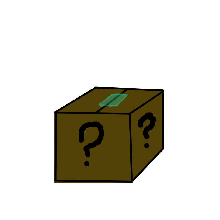 First panel in whats in the box? drawn in our free online drawing game