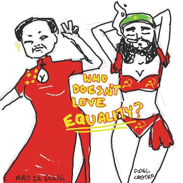 i put too much time into this ._.   ((its actually sad that people actually thinks communism works)) - Online Drawing Game Comic Strip Panel by ironically horny