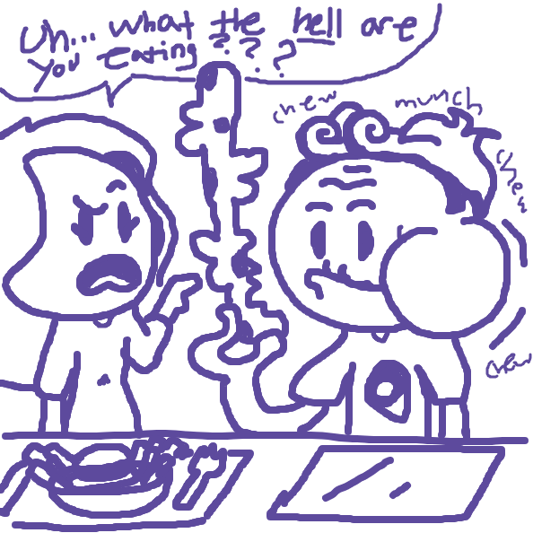 Liked webcomic Mystery food