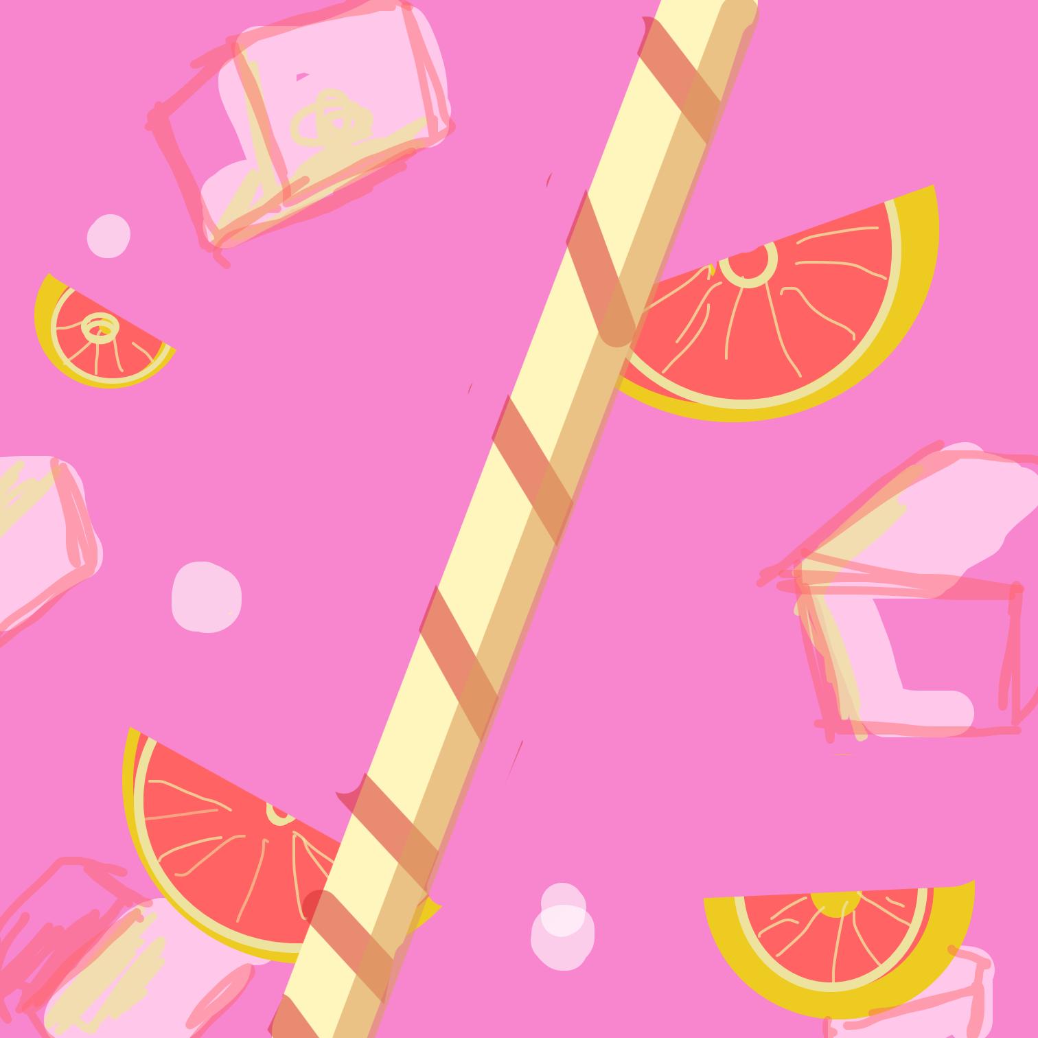 Drawing in Pink lemonade  by Juleefish