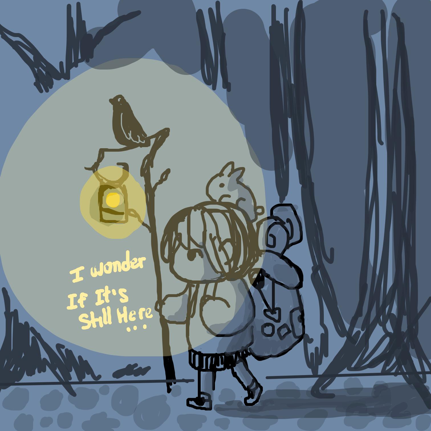 Drawing in Lantern  by Juleefish
