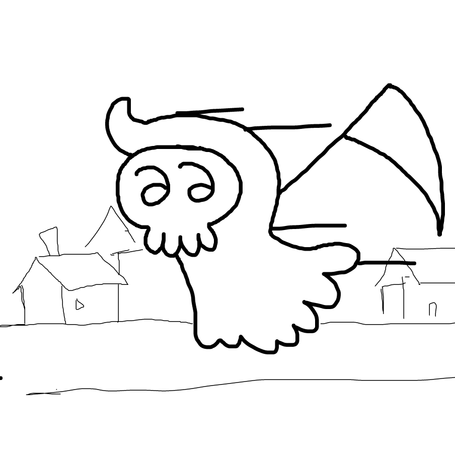 First panel in Li'l Reaper 1: The Adventure Begins drawn in our free online drawing game