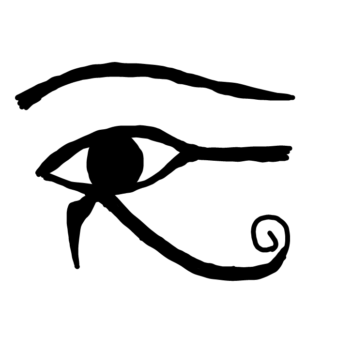 First panel in Eye of Horus drawn in our free online drawing game